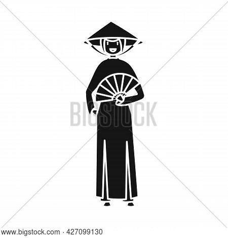 Vector Design Of Vietnamese And Woman Sign. Collection Of Vietnamese And Girl Vector Icon For Stock.