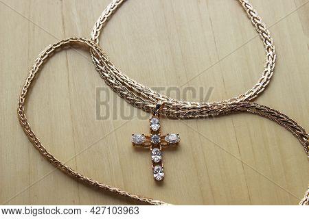 Cross Gold, A Symbol Of The Christian Faith