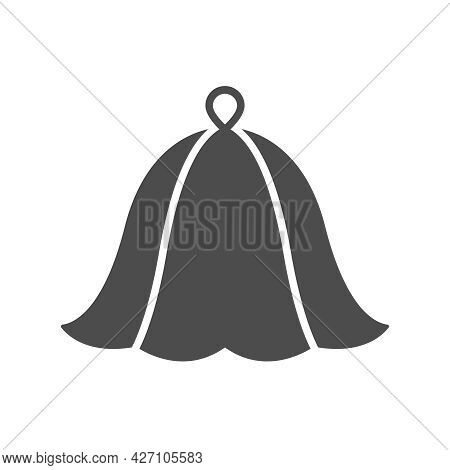 Sauna Hat Silhouette Vector Icon Isolated On White Background. Sauna Hat Icon For Web, Mobile Apps,