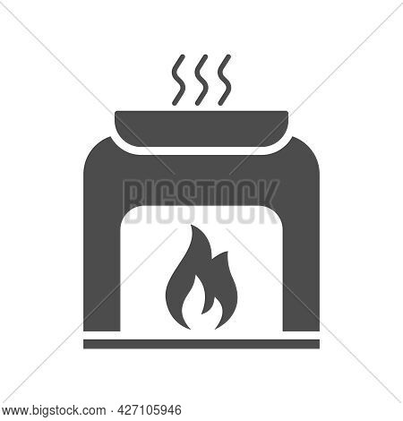 Sauna Silhouette Vector Icon Isolated On White. Bath Sauna Icon For Web, Mobile Apps, Ui Design And