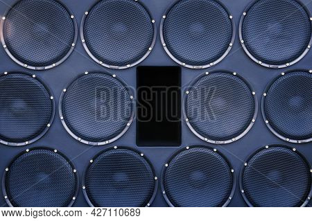 Large Number Of Car Speakers For The Car, Premium Car Acoustics, Tuning And Upgrade