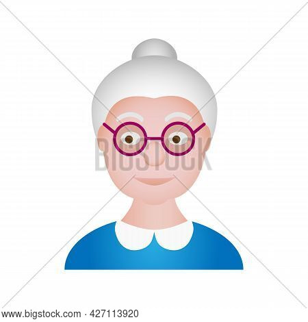 Grandmother Old Woman Vector Cartoon Character Portrait