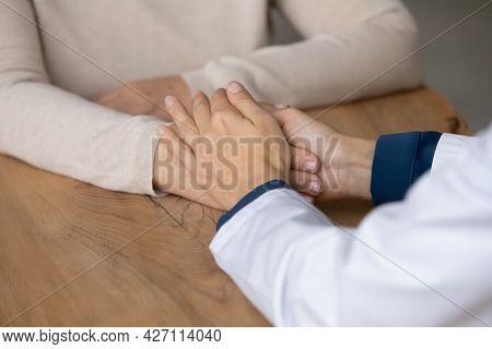 Hands Of Doctor In White Coat, Nurse, Medic Worker