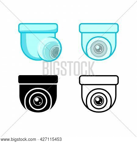 Cctv Vector. Set Of Cctv Camera Icon Isolated On White Background. Cctv Camera Icon Simple Sign. Cct