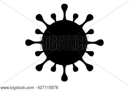 Coronavirus 2019-ncov. Corona Virus Icon-design. Black On Isolated White Background. Respiratory Dis