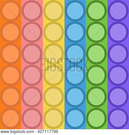 Antistress Pop-it. Children S Popular Toy. Seamless Fabric Or Wallpaper. Flat Illustration. Backgrou