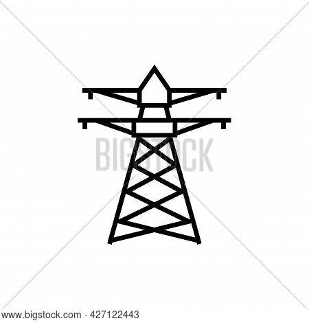 Power Station Icon. Alternative Energy Vector Illustration.
