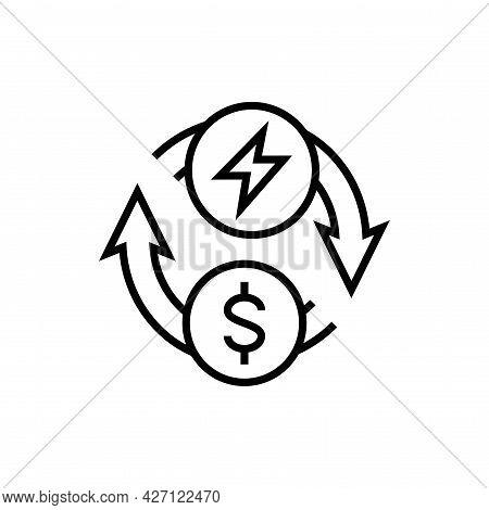 Energy Change Money Icon. Alternative Energy Vector Illustration.
