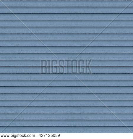Pale Blue Roller Shutter Background - Tileable Seamless Texture