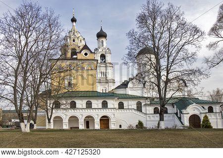 Kirzhach, Vladimir Region, Russia - April, 2021: Annunciation Monastery. The Holy Annunciation Dioce