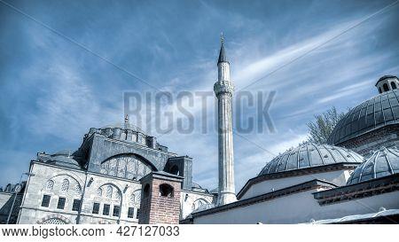Istanbul, Turkey - April 2014: Kilic Ali Pasa Mosque At Tophane District. Kilic Ali Pasa Mosque Was
