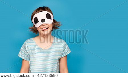 Portrait Of Funny Child Female In Happy Mood. Emotions Beauty And Bedtime Routine Concept. Pretty Mo