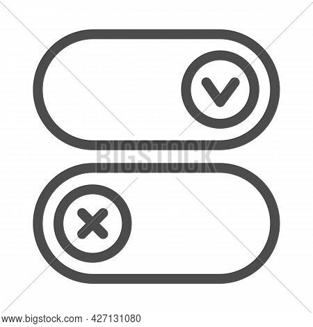 Buttons For Active And Inactive Program Add On Line Icon, Pcrepair Concept, Button Vector Sign On Wh