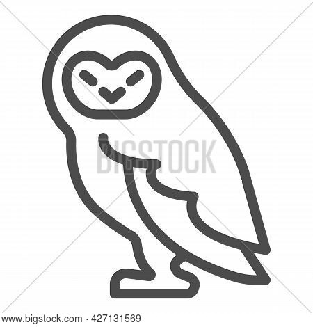 Forest Owl Line Icon, Worldwildlife Concept, Owl Vector Sign On White Background, Forest Owl Outline