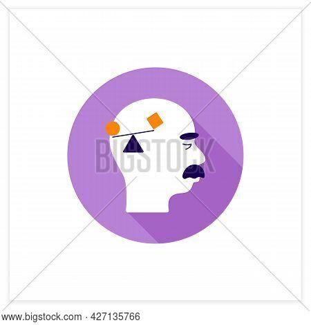 Spatial Awareness Problems Flat Icon. Problem With Balance.coordination.alzheimer Disease. Neurologi