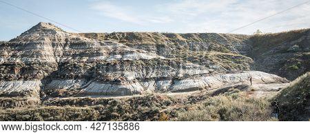 Canadian Badlands Desert Like Landscape, Shot In Drumheller, Alberta, Canada