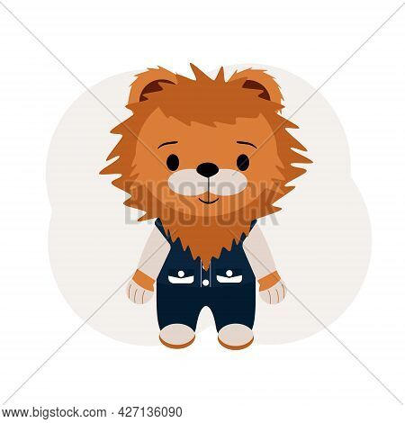 Illustration Of A Tiger Cub In Trousers And A Vest