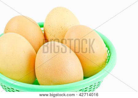 Eggs isolated on white background, chicken, albumen