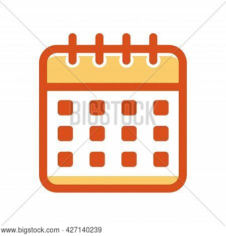 Calendar Icon. Meeting Deadlines Icon Symbol. Time Management, Appointment Schedule Flat Icon.
