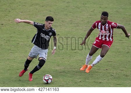 Rio, Brazil - July 18, 2021: Gabriel Pec Player In Match Between Vasco 1 Vs 1 Nautico By 12th Round