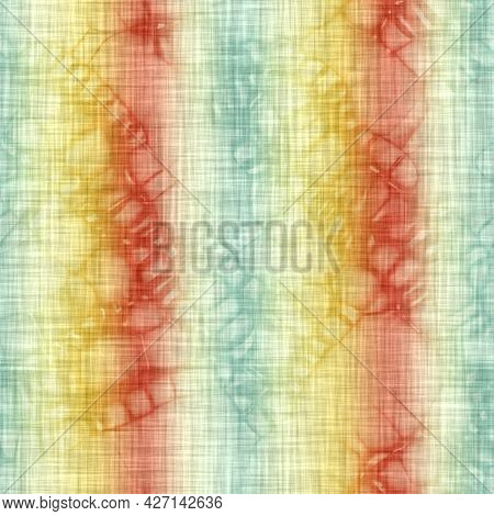 Vertical Melange Stripe Wash Out Background. Hand Painted Farmhouse Cottage Linen Seamless Pattern.