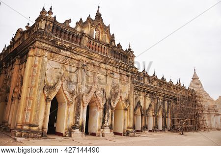 Ananda Paya Temple Pagoda Chedi Burma Style For Burmese People And Foreign Travelers Travel Visit Re
