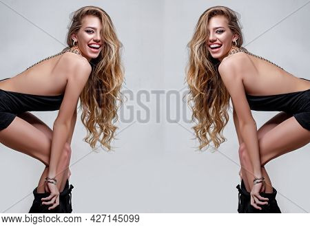 Photo Of Woman With Vogue Hairstyle. Fashion Image.