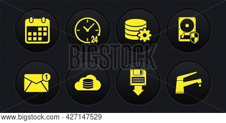 Set New, Email Incoming Message, Hard Disk Drive Hdd Protection, Cloud Database, Floppy Backup, Sett