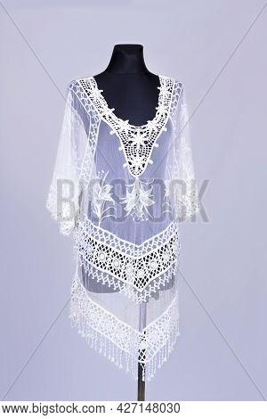 Modern Woman Dress On The Figurine On A White