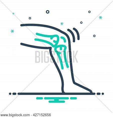 Mix Icon For Tendon Bone Knee Orthopedic Injury Sprain Therapy Tibia Trauma Treatment