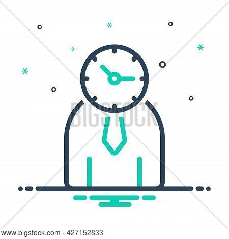 Mix Icon For Time-management Management Monograph Manage Controler Time Organization Person