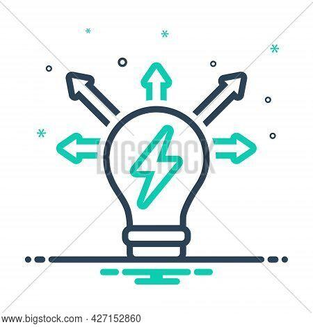 Mix Icon For Creativity-mode Mindset Mentality Motivation Mind Power