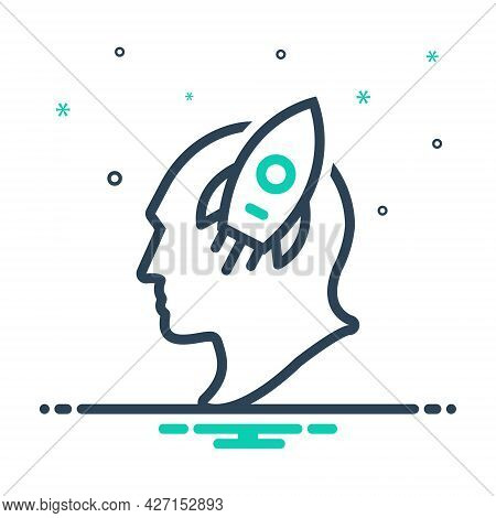 Mix Icon For Imagination Imaginative Faculty Creative Power Fancy Interest Fascination Attention Pas