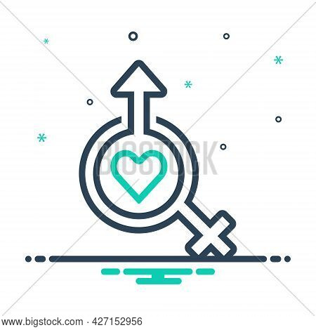 Mix Icon For Sexology  Gynecology Heterosexual Human Sexual Relationship Gender