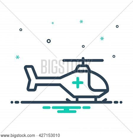 Mix Icon For Emergency-helicopter Air-medical-service Air-ambulance Helicopter Emergency Rescue Urge