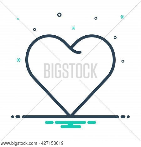 Mix Icon For Heart Love Affection Impulse Friendship Emotion Valentine Cardiology Romance Romantic