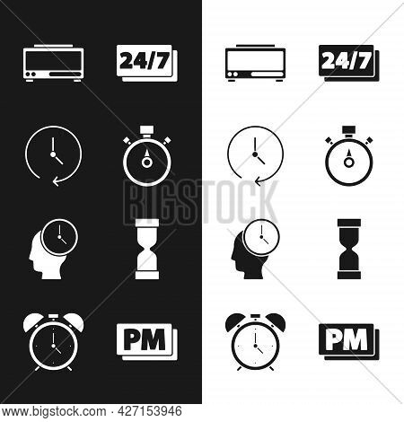 Set Stopwatch, Clock, Digital Alarm Clock, 24 Hours, Time Management, Old Hourglass, Pm And Alarm Ic
