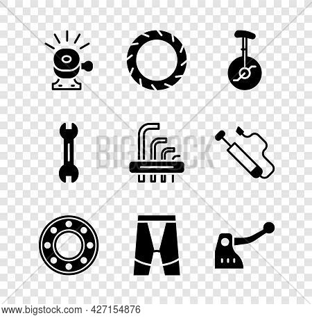 Set Bicycle Bell, Wheel Tire, Unicycle Or One Bicycle, Ball Bearing, Cycling Shorts, Brake, Wrench S