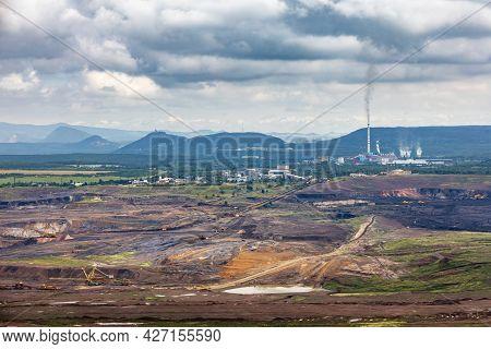 Surface Brown Coal Mine Near Most Town - Czech Republic, Europe