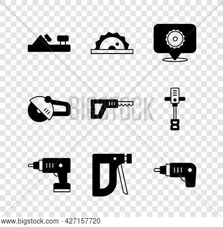 Set Wood Plane Tool, Electric Circular Saw, Circular Blade, Cordless Screwdriver, Construction Stapl