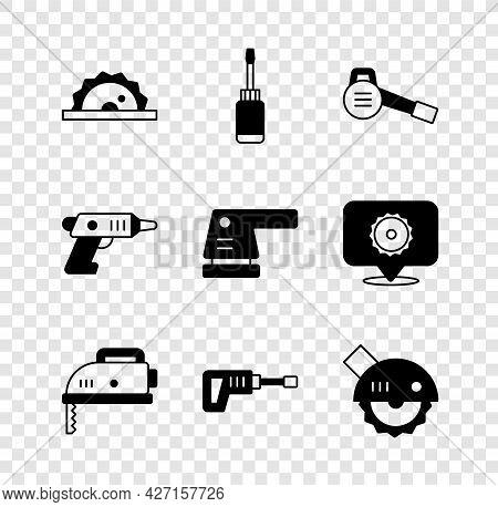 Set Electric Circular Saw, Screwdriver, Leaf Garden Blower, Jigsaw, Rotary Hammer Drill Machine, Cor