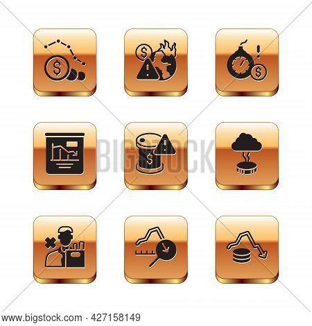 Set Dollar Rate Decrease, Employee Dismissal, Global Economic Crisis, Drop In Crude Oil Price, Pie C