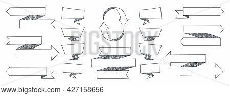 Ribbons. Modern Ribbons Icon. Ribbon Stripes Banners. Concept Vector Illustration
