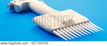 microbiology multi pipette Tools for PCR amplification of DNA  automatic pipette