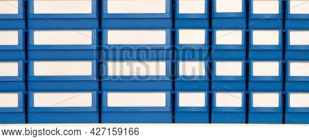 Boxes with compartments for spare parts