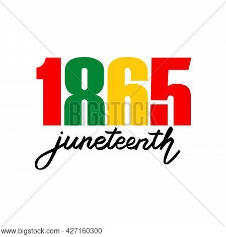 Juneteenth Independence Day Vector Illustration. June 19. Day Of Freedom And Emancipation. African-a