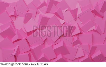 Bas-relief formed by multiple cubes. 3D illustration