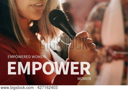 Female empowerment banner inspirational quote empowered women empower women