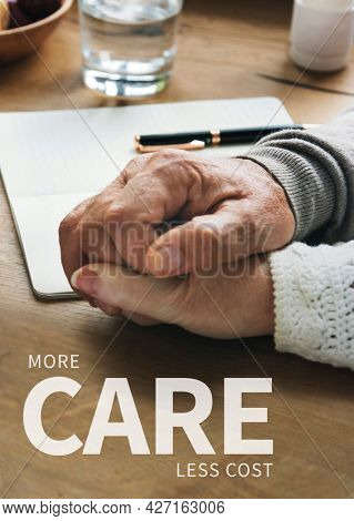 Personal life insurance more care less cost ad banner