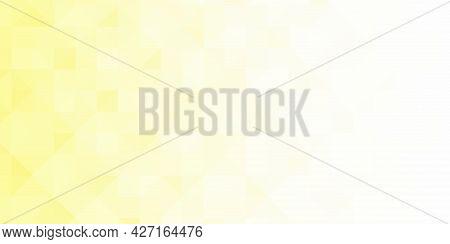 Abstract Geometric Background. Triangular Pixelation. Mosaic, Yellow Gradient.